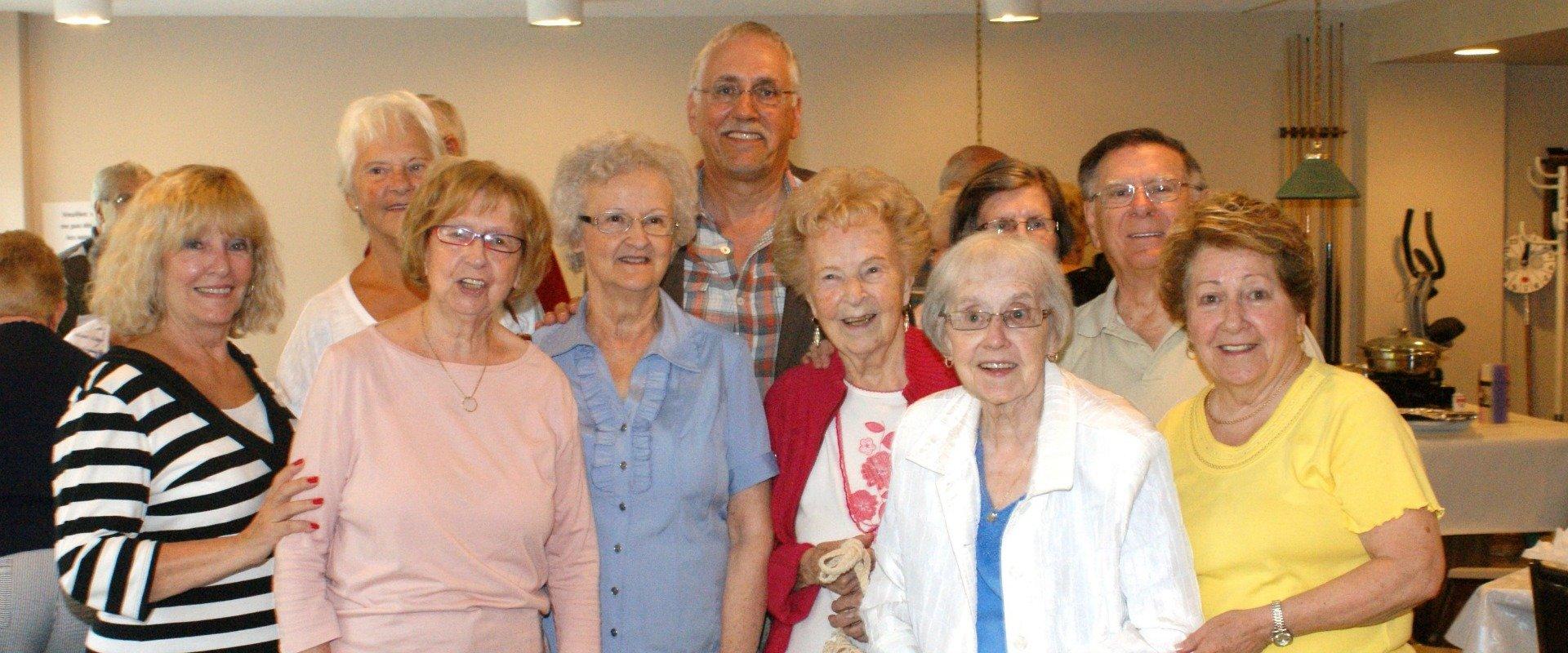 Pierre Dionne Labelle a visité les aînés de la résidence La Jérômienne, à la fin août. Photo Paul Alain