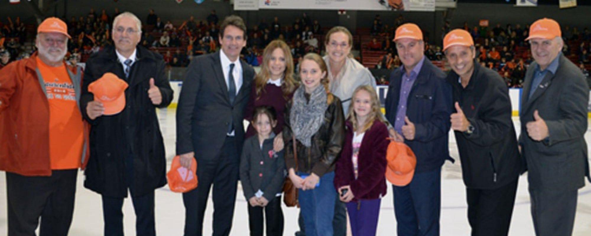 Une foule importante a été réunie à l'aréna Melançon pour célébrer la candidature des Jeux du Québec de Saint-Jérôme et Mirabel.