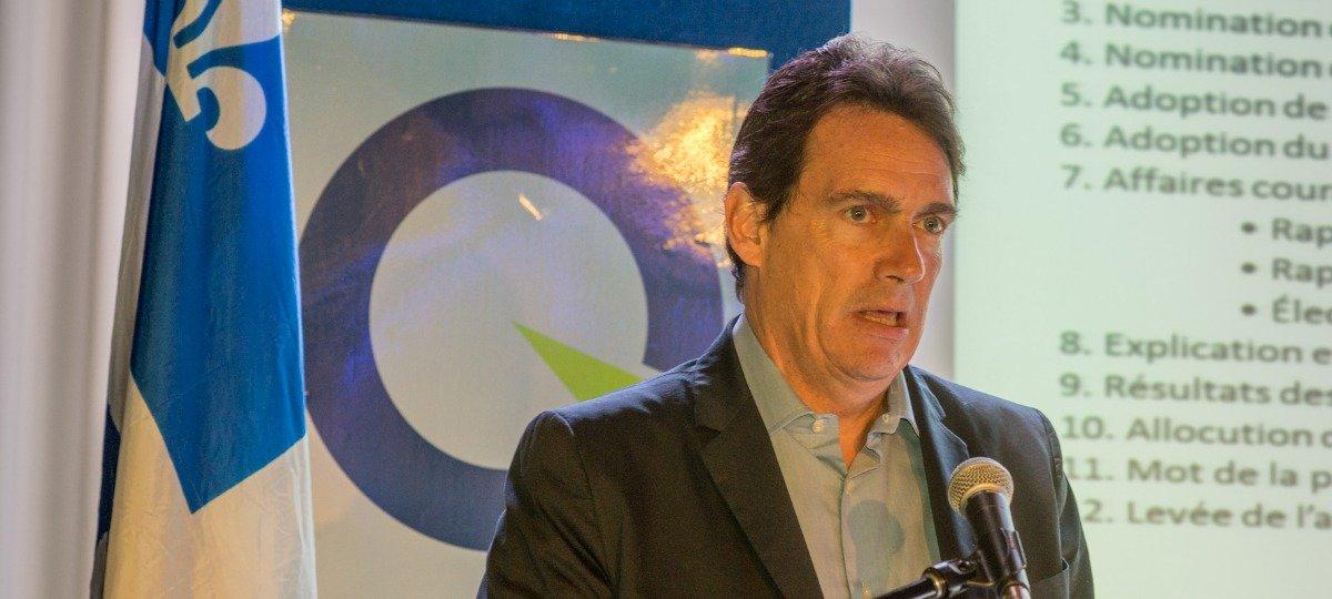 Pierre Karl Péladeau était l'orateur invité de l'assemblée générale du Parti québécois de Saint-Jérôme, le dimanche 16 novembre 2014.