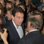 C'est devant une foule conquise que Pierre Karl Péladeau a livré son premier discours officiel à titre de candidat à la direction du Parti québécois, le 30 novembre 2014, à l'École secondaire des Studios, à Saint-Jérôme.