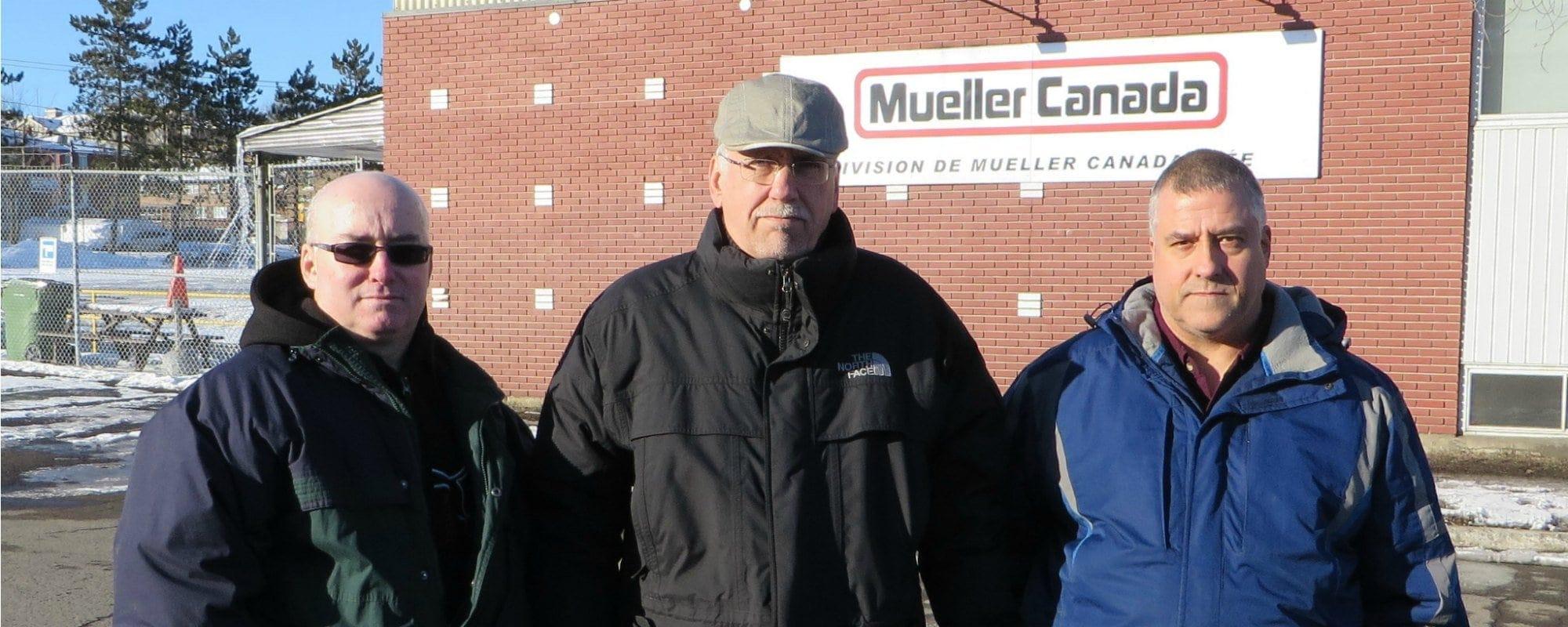Pierre Dionne Labelle est allé rencontrer les employés de l'usine Mueller de Saint-Jérôme.