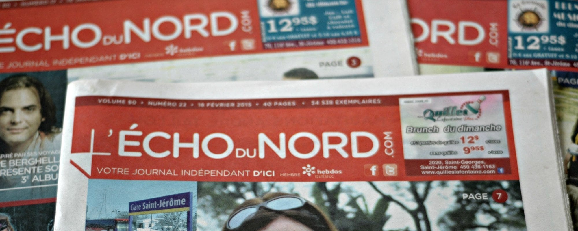 Le numéro du 24 février 2015 de L'Écho du Nord sera le dernier.