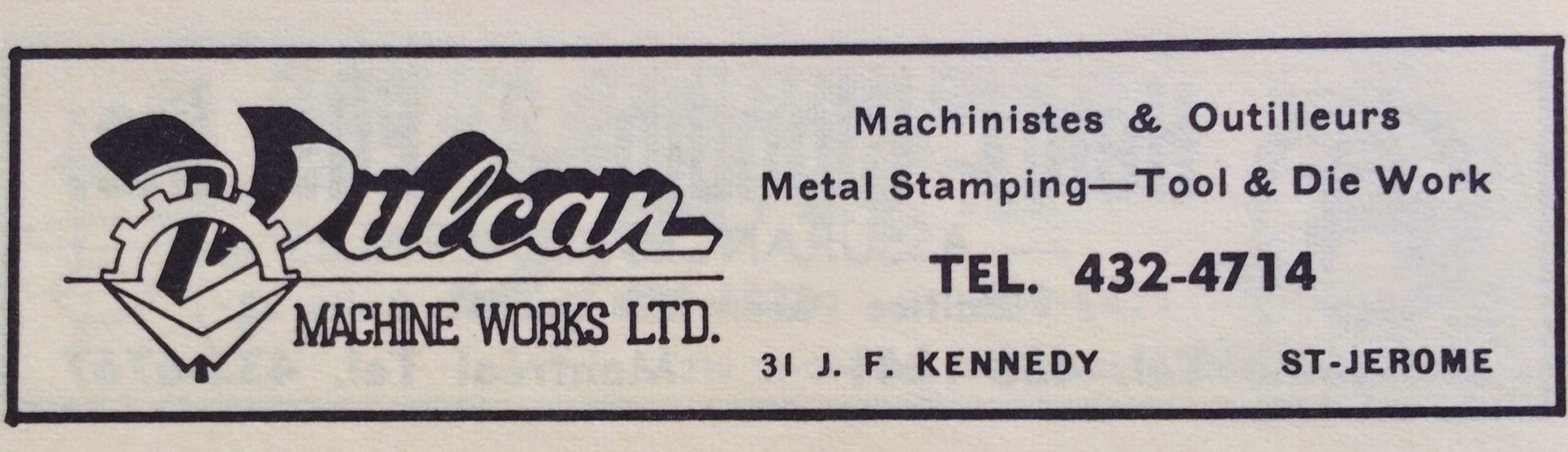 Publicité tirée d'un annuaire de Saint-Jérôme, en 1969.