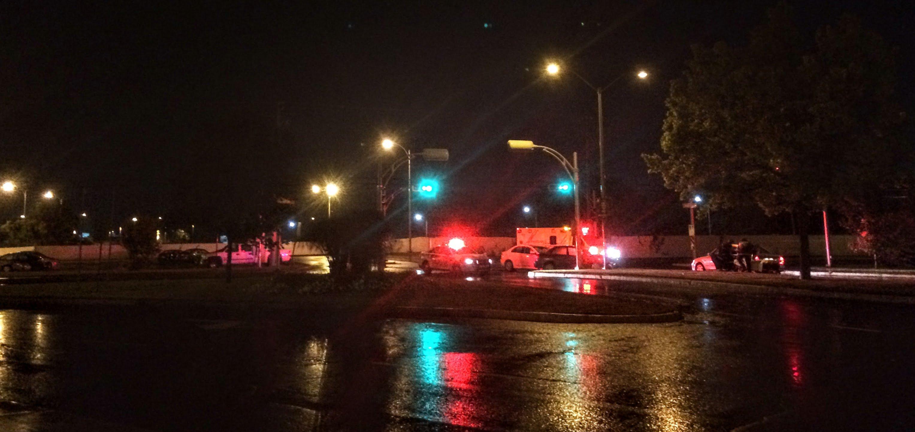 Il y avait peu de circulation samedi soir près du Carrefour du Nord après un accident au coin des boulevards Grignon et de La Salette.