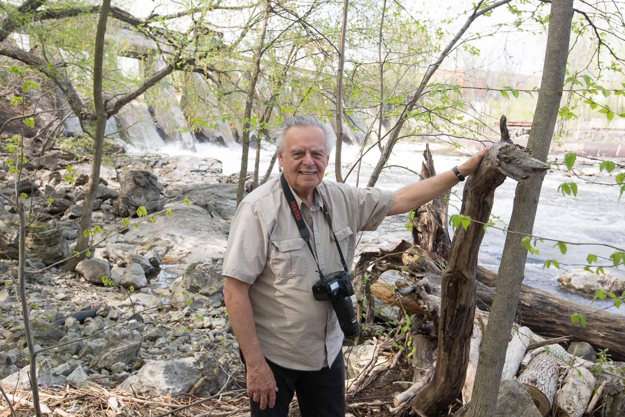Pierre Maillé a trouvé une bouteille au bord de la rivière du Nord à Saint-Jérôme. Elle était partie de Val-David trois ans plus tôt.