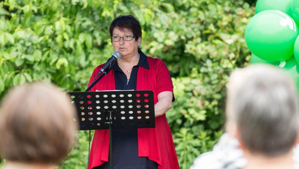 La mairesse de Sainte-Sophie Louise Gallant, est en poste depuis 2013.
