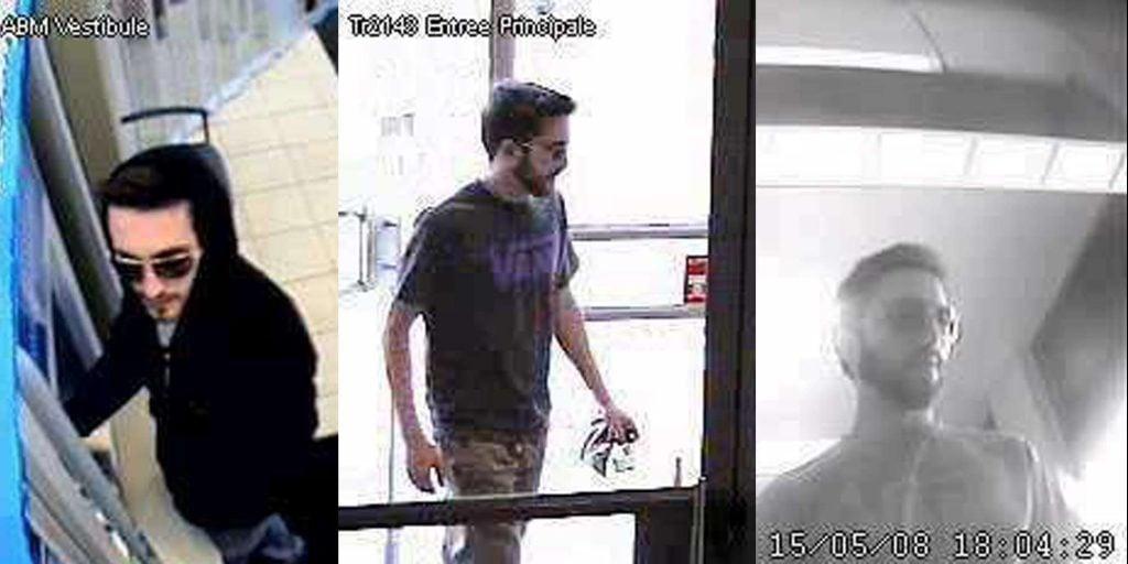 La police de Saint-Jérôme diffuse ces images d'un homme qui aurait retiré pour plus de 40 000$ d'argent qui n'était pas à lui.