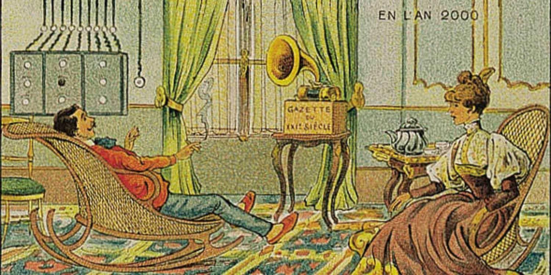 En 1910, on pressentait qu'on écouterait les nouvelles sur un phonographe, en l'an 2000. L'exercice que Saint-Jérôme vous propose vous demande de voir seulement 5 ans dans votre futur.