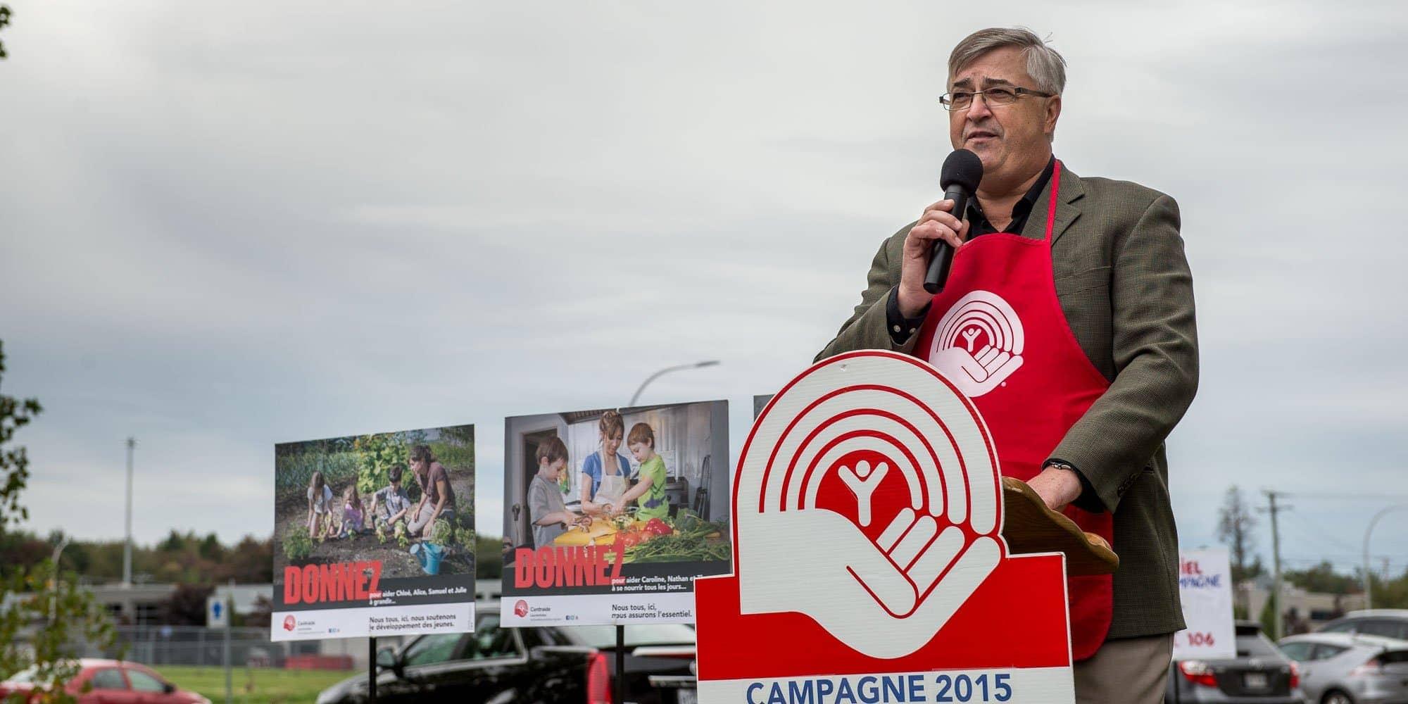 Laurent Martineau, président de la campagne de Centraide Laurentides.