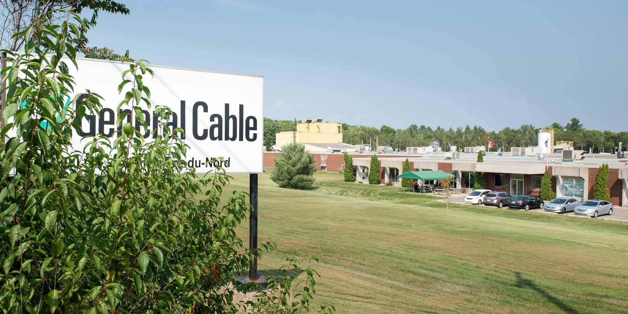 L'usine General Cable, sur le chemin de la rivière du Nord, à Saint-Jérôme.