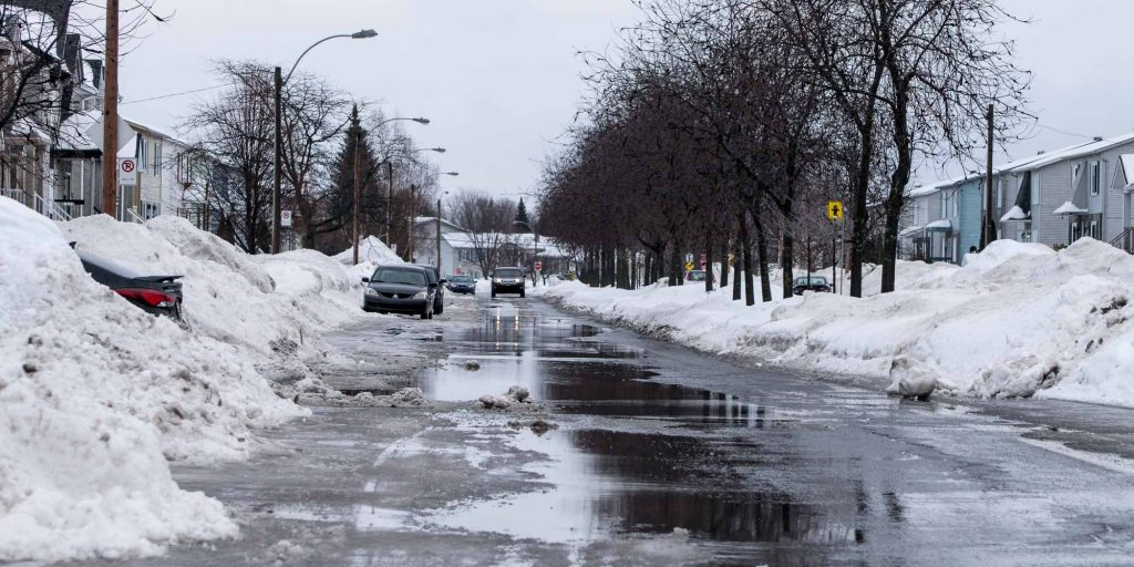 L'avenue du Parc dans le quartier de Saint-Antoine, à Saint-Jérôme, le 20 février 2016.