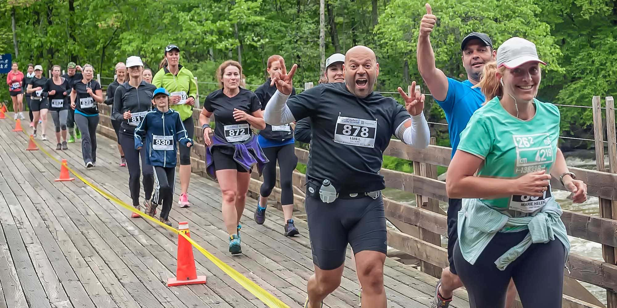 Il y avait des coureurs de tous les horizons à la Course nature de la Rivière-du-Nord, le 5 juin 2015.