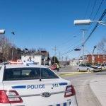Deux voitures ont eu un accident le dimanche 20 mars 2016, sur la rue Bélanger à Saint-Jérôme.