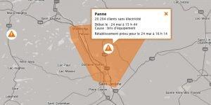 Sur le site d'Hydro-Québec, on indiquait que plus de 20000 clients n'avaient pas d'électricité à 15h44.
