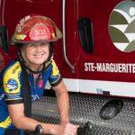 Lieutenant chez les pompiers de Sainte-Marguerite-Estérel, Francine Chaput est prête pour un défi vélo de 5000 kilomètres