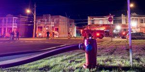 Un incendie s'est déclaré le soir du 20 juillet sur la rue Saint-Georges, à 500 mètres de la caserne des pompiers.