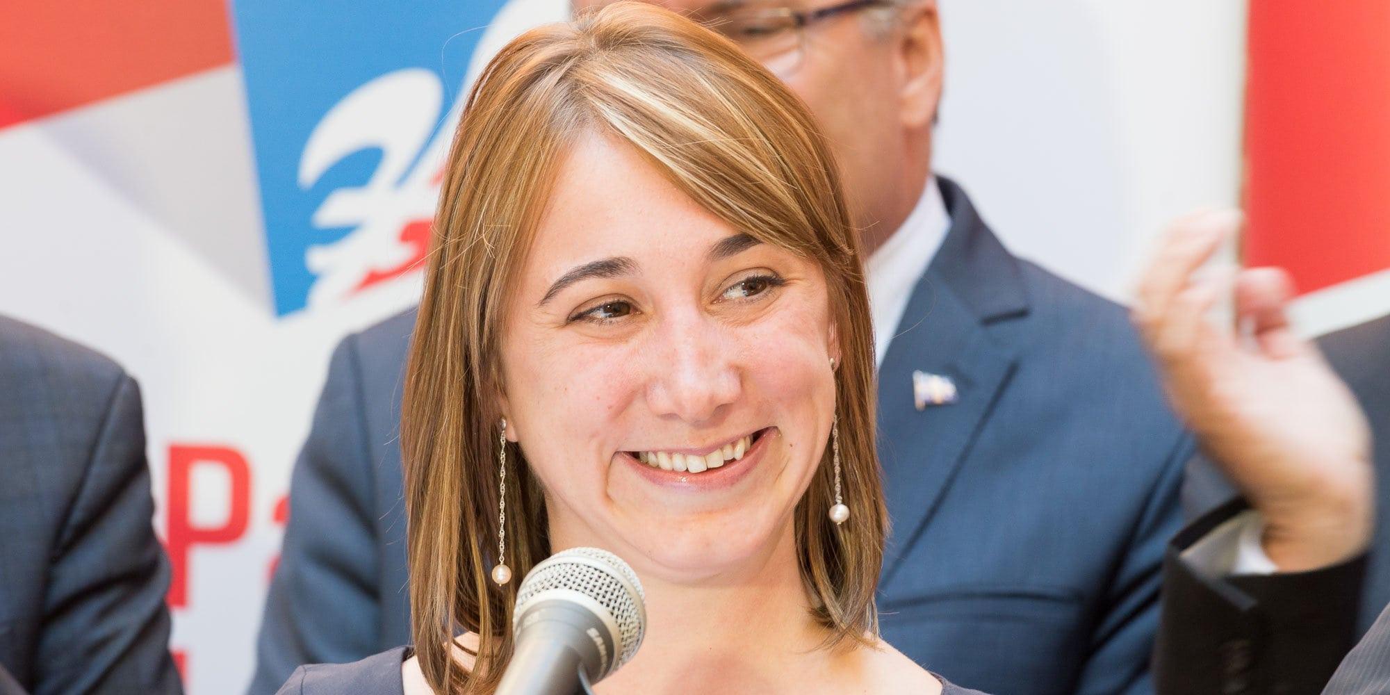 Naömie Goyette est la candidate du Parti libéral du Québec pour l'élection partielle à venir dans la circonscription de Saint-Jérôme.