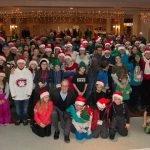 Le groupe des bénévoles qui a recueilli plus de 18 000$ à Sainte-Adèle, lors de la guignolée du 10 décembre 2016.