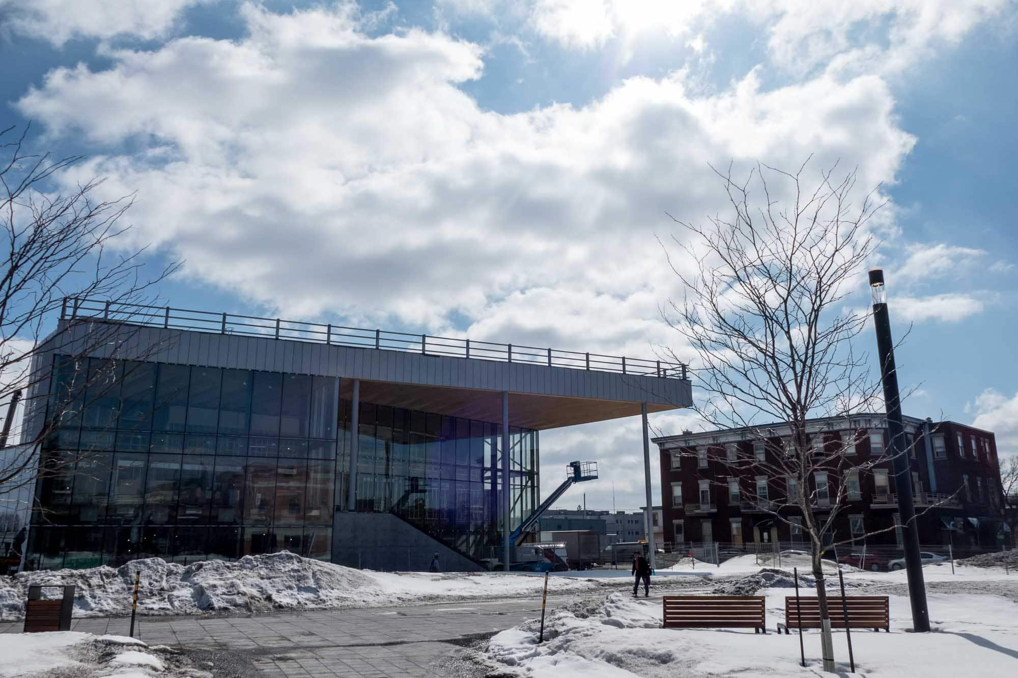 Le Théâtre Gilles-Vigneault, le 21 mars 2017 au centre-ville de Saint-Jérôme.