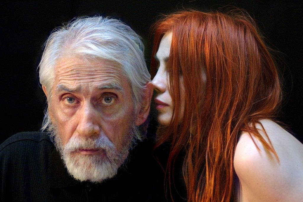 La chanteuse et comédienne Chloé Sainte-Marie, avec son conjoint, le cinéaste Gilles Carle, peu de temps avant le décès de celui-ci en 2009. Photo par Pierre Dury