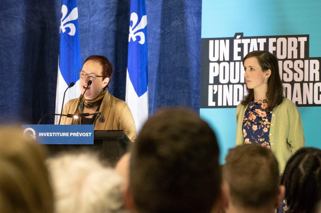La mère de Karine Gauvin a présenté la candidate à l'investiture.
