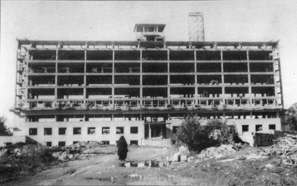 L'Hôtel-Dieu de Saint-Jérôme en construction, en avril 1949.