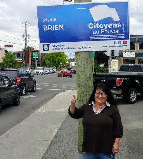 Sylvie Brien, candidate du parti Citoyens au pouvoir dans la circonscription de Saint-Jérôme. Photo tirée de Facebook
