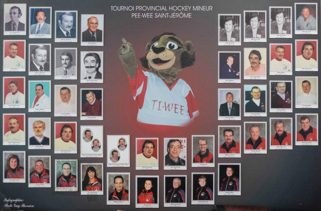 Les présidents se sont succédés au cours des 45 années, autour de Ti-Wee, éternelle mascotte du tournoi.