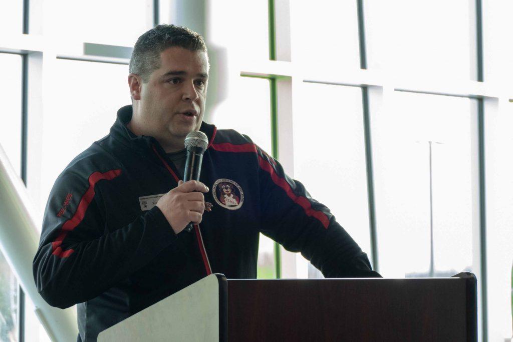 Dominic Pagé est le président du 45e Tournoi provincial de hockey pee-wee de Saint-Jérôme.