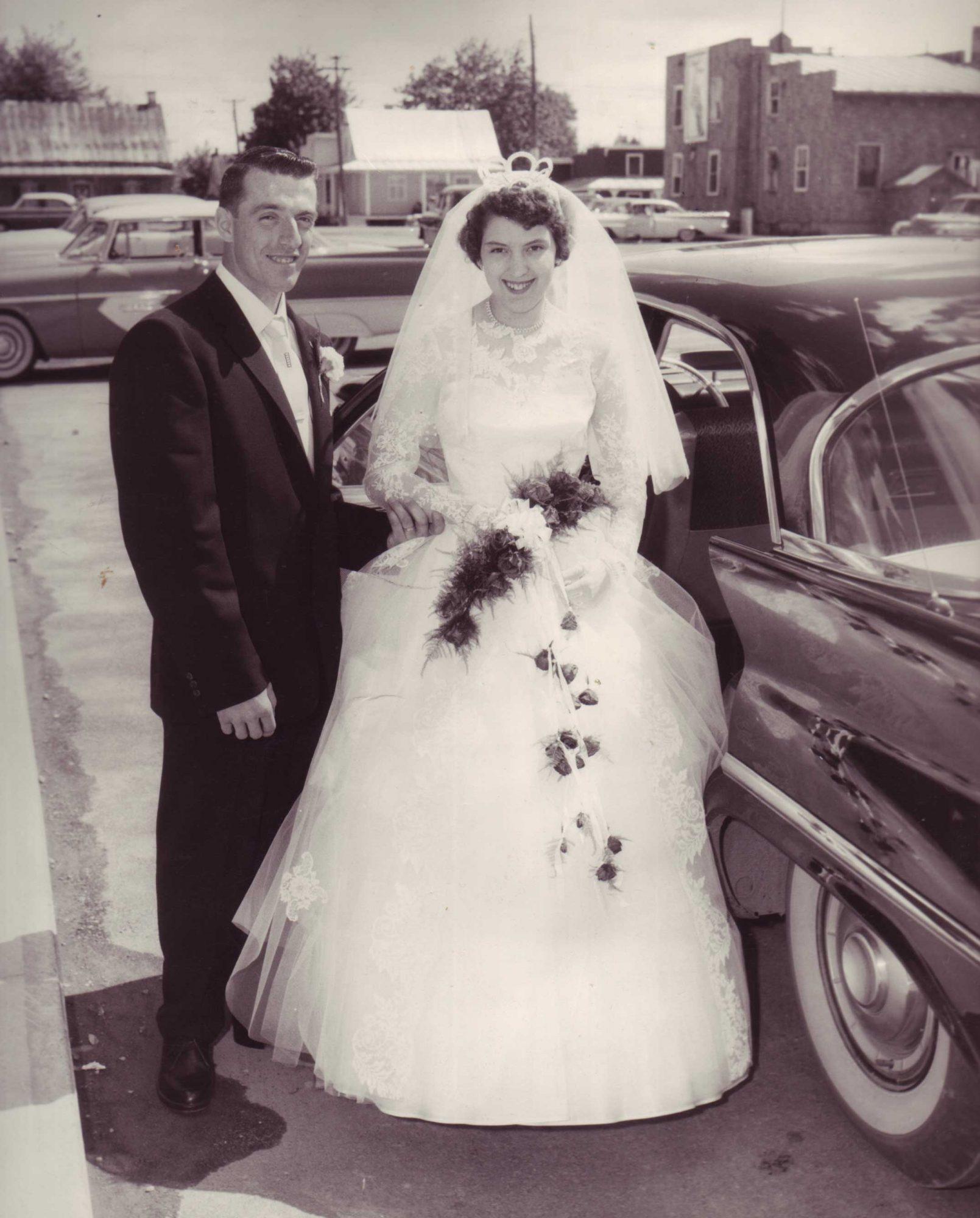 Leur mariage en 1960.