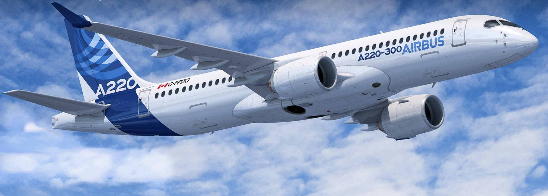 Le Airbus A220 est en fait le C-series de Bombardier rebaptisé. Ces appareils sont assemblés à Mirabel, entre autres.