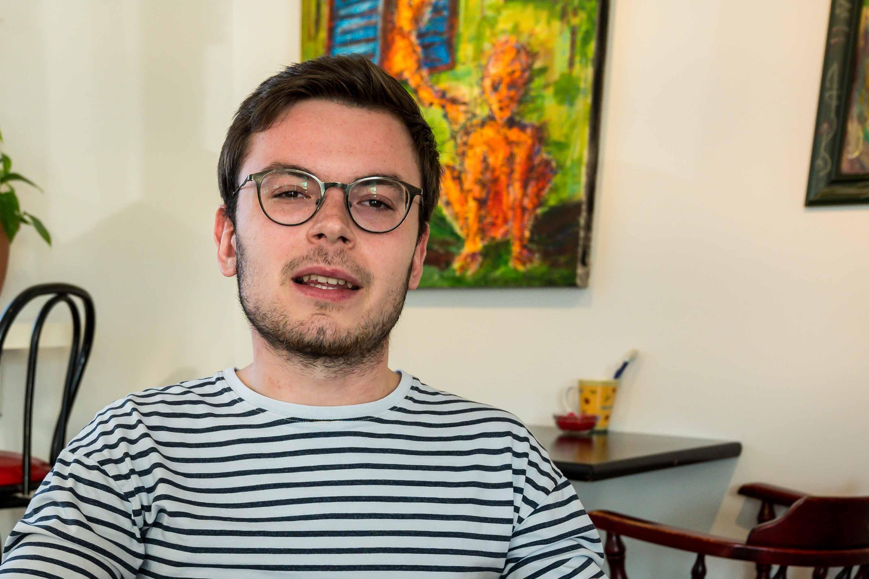 Marc-Olivier se fait le porte-parole du Mouvement jérômien, un parti politique en formation.