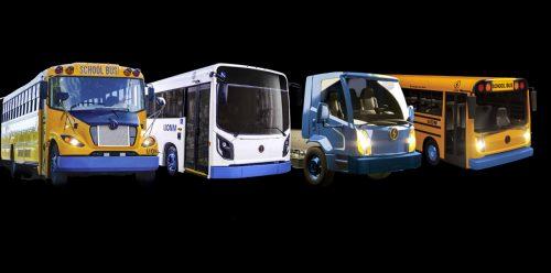 La gamme des véhicules électriques Lion comprend son autobus scolaire, un minibus offert en version urbaine et scolaire, et maintenant un camion.