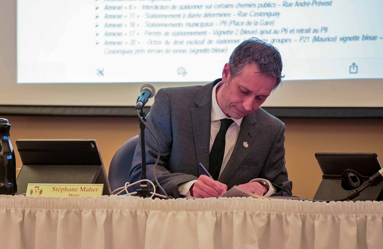 Le maire de Saint-Jérôme Stéphane Maher