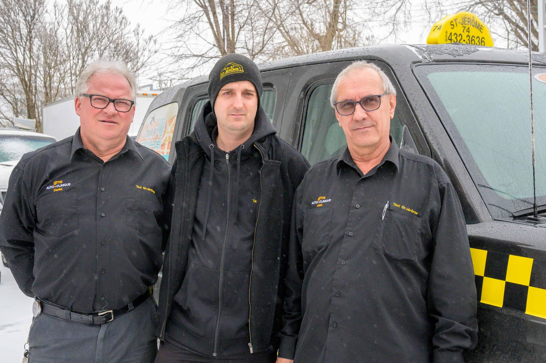 Daniel Malenfant, Steven Morin et Alain Jasmin,.