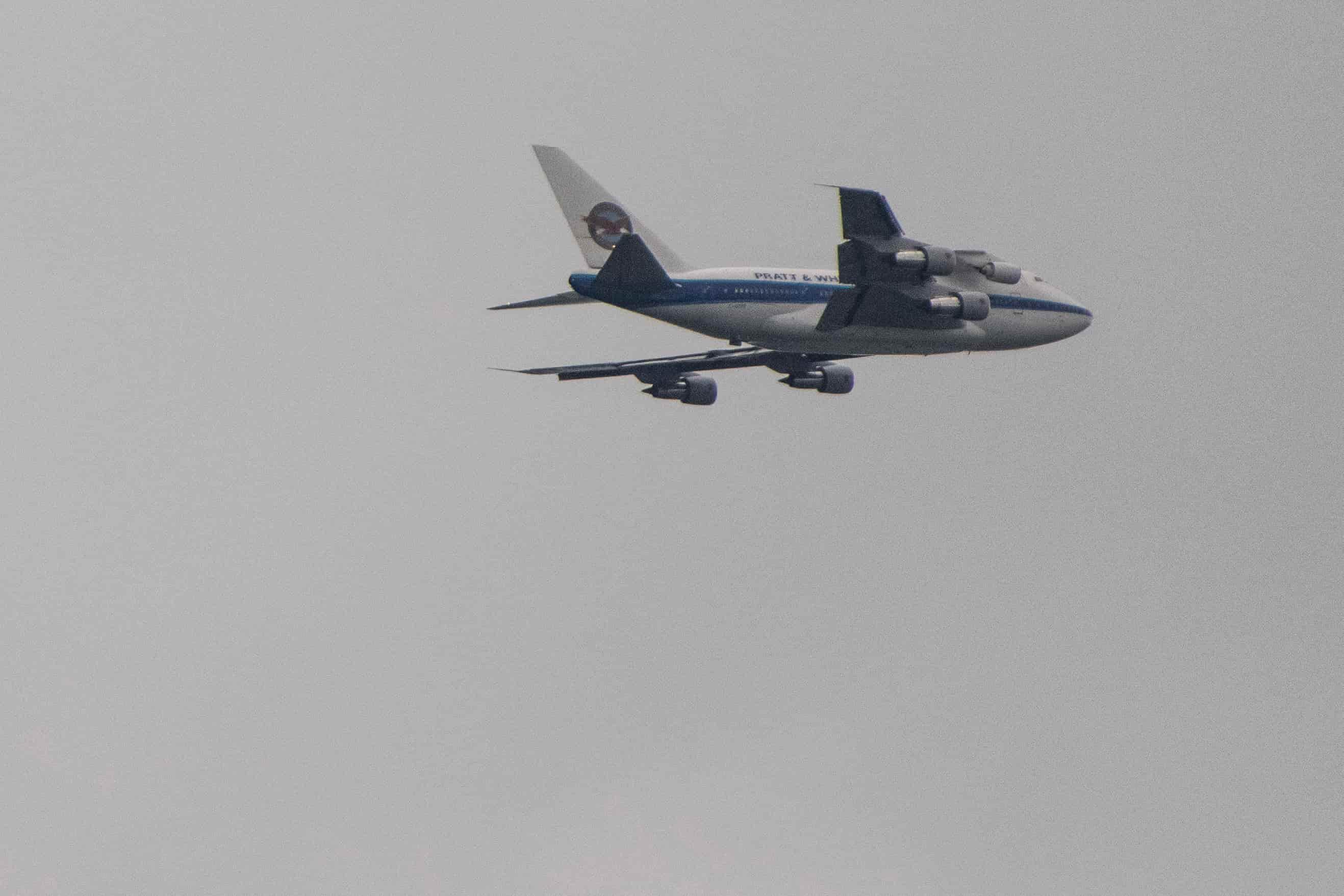 Cet avion de Pratt & Whitney est équipé d'un pylône semblable à celui qui sera produit par L3 MAS.