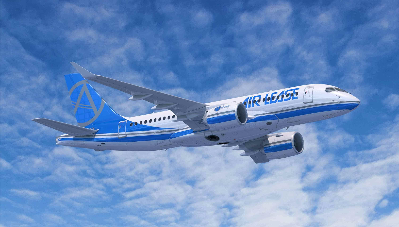 Un Airbus A220-300 aux couleurs de Air Lease. Image courtoisie Airbus