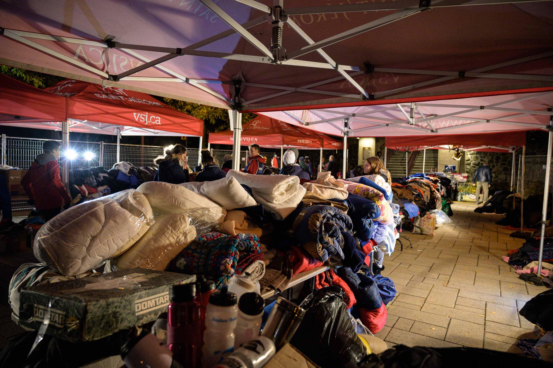 Des couvertures chaudes, des bottes, des manteaux, le Book humanitaire avait mis de côté une impressionnantes cueillette pour aider les personnes dans le besoin.