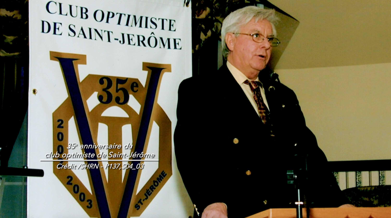 Jean Mercier fut l'un des fondateurs et le second président du club Optimiste de Saint-Jérôme, en 1969.
