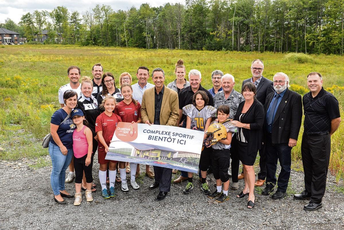 Photo officielle de la Ville de Saint-Jérôme, prise en 2018, qui annonçait le projet de complexe sportif d'alors.